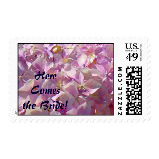 Here Comes the Bride! stamps Pink Hydrangeas