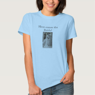 Here comes the Bride...vintage print tee shirt