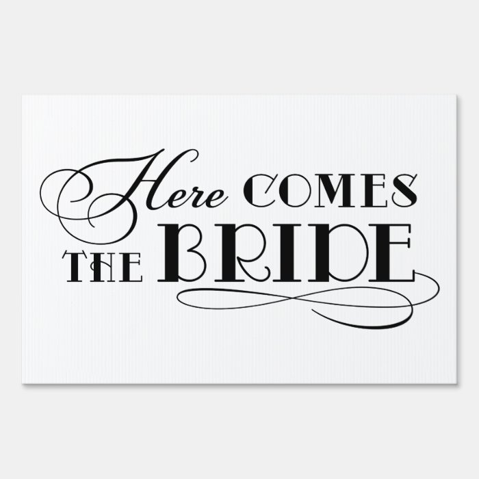 Theme Song Here Comes The Bride Wedding: Wedding Ceremony Sign