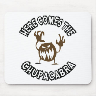 Here comes the chupacabra mouse pad