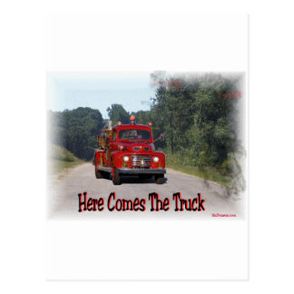 Here Comes The Fire Truck. Postcards