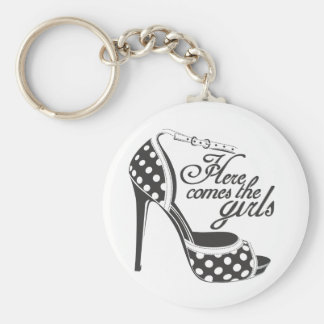 Here Comes the girls_SHOE.ai Keychain