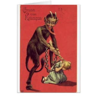 Here Comes The Krampus! 2 Greeting Cards