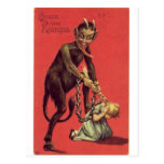 Here Comes The Krampus! 2 Post Cards