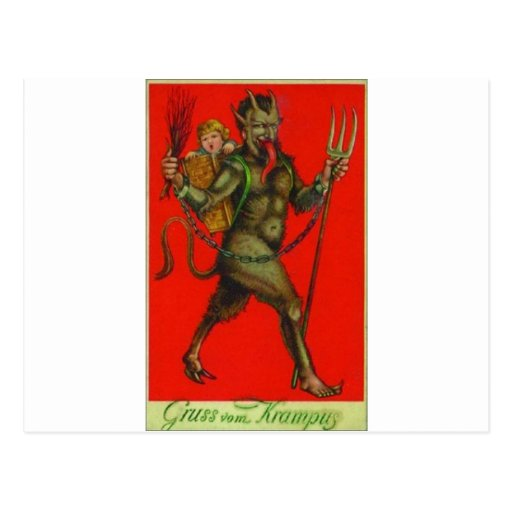 Here comes the Krampus! Postcard