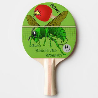 Here Comes the Stinger Funny Table Tennis Paddle Ping-Pong Paddle