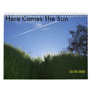 Here Comes The Sun Calender Calendar
