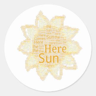 Here Comes the Sun Classic Round Sticker
