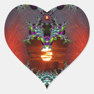 Here Comes the Sun Heart Sticker