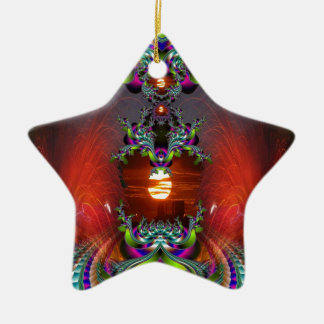 Here Comes the Sun Double-Sided Star Ceramic Christmas Ornament
