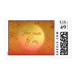 Here comes the sun stamps
