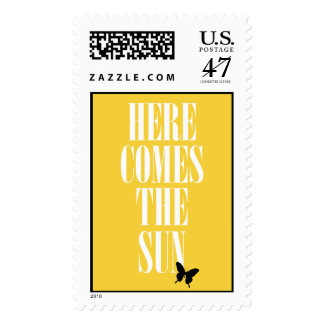 HERE COMES THE SUN POSTAGE STAMP