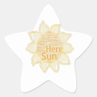 Here Comes the Sun Star Sticker