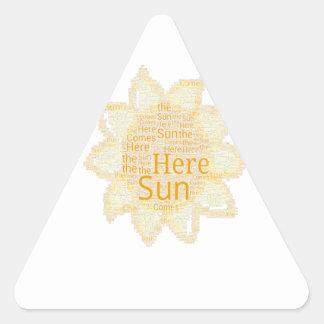 Here Comes the Sun Triangle Sticker