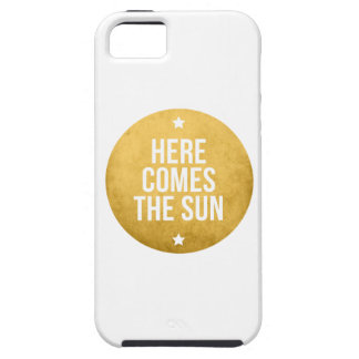 here comes the sun, word art, text design iPhone SE/5/5s case