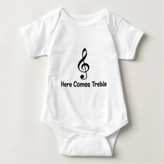 Here Comes Treble Baby Bodysuit