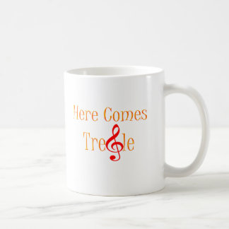 Here Comes Treble Note For Musicians Classic White Coffee Mug