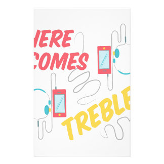 Here Comes Treble Stationery