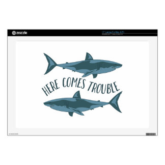 """Here Comes Trouble 17"""" Laptop Skin"""