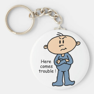 Here Comes Trouble Baby (BLUE) Key Chain