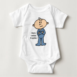 Here Comes Trouble Baby (BLUE) T Shirt