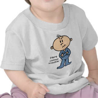 Here Comes Trouble Baby (BLUE) T-shirts