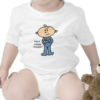 Here Comes Trouble Baby (BLUE) T-shirt