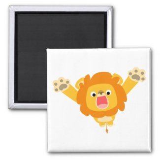 Here comes Trouble (cute cartoon Lion) magnet magnet