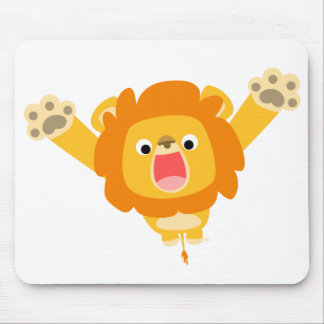 Here comes Trouble (cute cartoon Lion) mousepad
