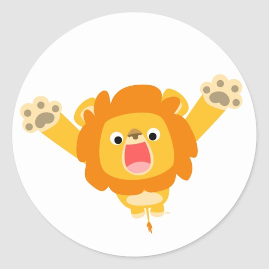 Here comes Trouble (cute cartoon Lion) sticker