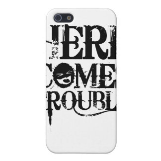 Here Comes Trouble Shirt Covers For iPhone 5