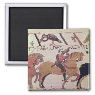 Here Count Guy leads Earl Harold  to William 2 Inch Square Magnet