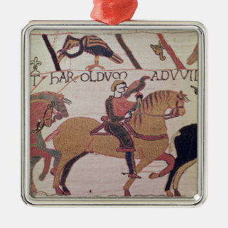 Here Count Guy leads Earl Harold  to William Metal Ornament
