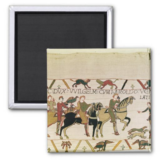Here Duke William goes with Harold to his 2 Inch Square Magnet