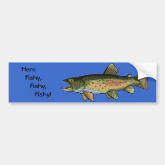 Here fishy Bumper Sticker