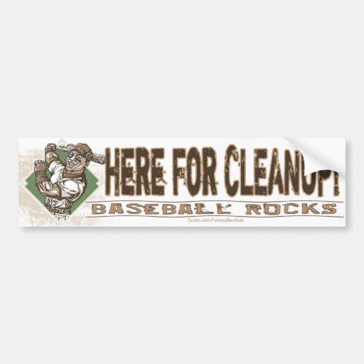 Here for Cleanup! Bumpersticker Car Bumper Sticker