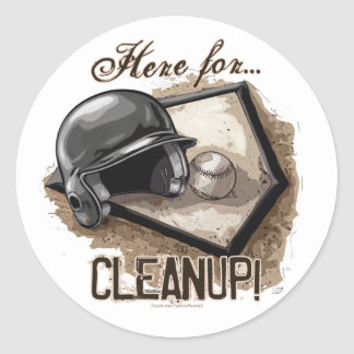Here For Cleanup! Sticker