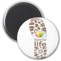 Here for Life Shoe Logo. Magnet
