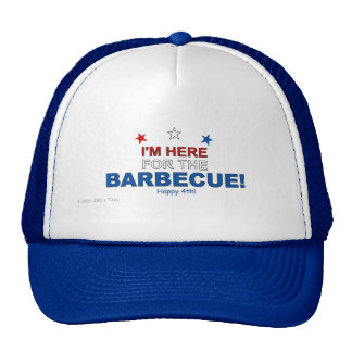 Here for the Barbecue Trucker Hat