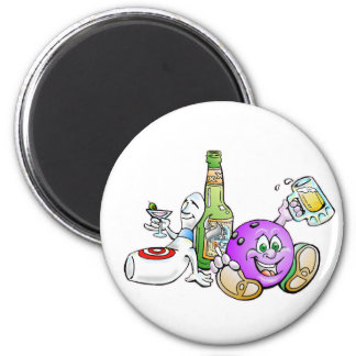 Here for the Beer! 2 Inch Round Magnet