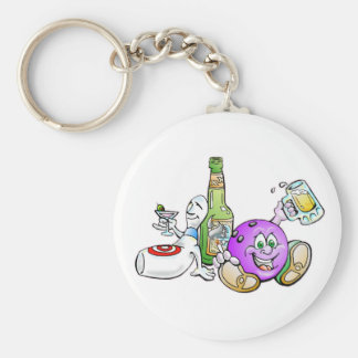 Here for the Beer! Basic Round Button Keychain