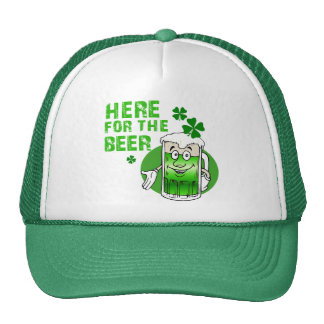 Here For The Beer Trucker Hat