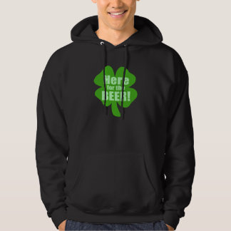 Here For The Beer Hooded Sweatshirt