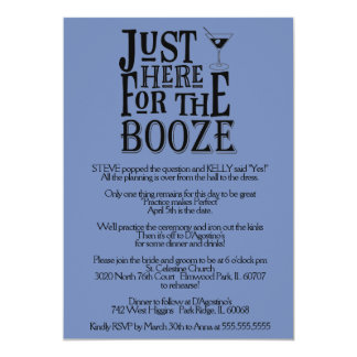 Here for the Booze Rehearsal Dinner Invitation