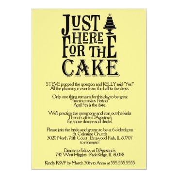 Bride Themed Here for the Cake Rehearsal Dinner Invitation