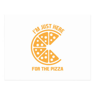 Here for the Pizza Postcard