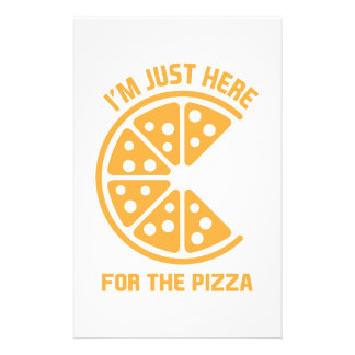 Here for the Pizza Stationery