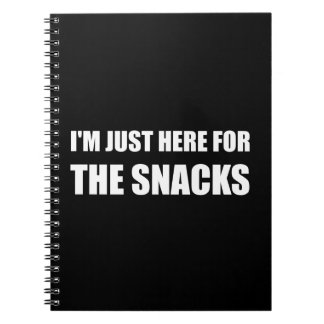 Here For The Snacks Spiral Notebook