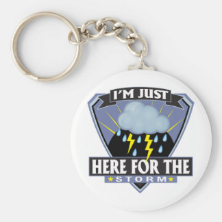 Here for the Storm Basic Round Button Keychain