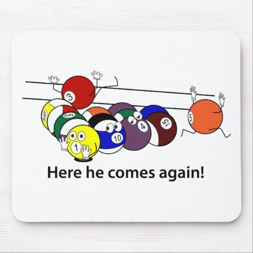 Here He Comes mousepad